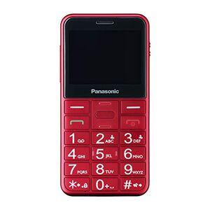 Panasonic Einsteiger-Mobiltelefon KX-TU150EXR mit Notruftaste & beleuchteten Tasten, hrgertekompatibel, Rot