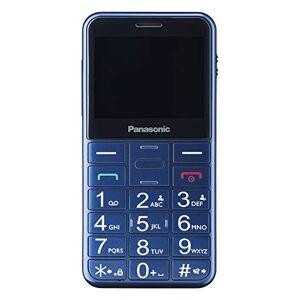 Panasonic Senioren-Mobiltelefon KX-TU150EXC mit Notruftaste & beleuchteten Tasten, hrgertekompatibel, Blau