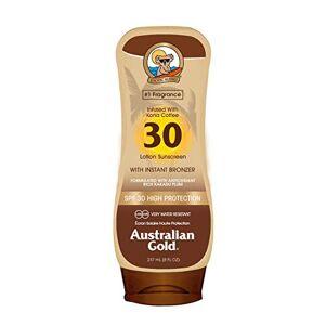 Australian Gold Australian Goud SPF 30lotion + Bronzer, per stuk Pack (1x 237ml)