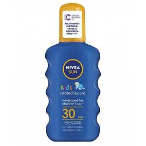 Nivea Sun Children 's Sun spray spf30 Long lasting water Resistant Gekleurd spray 200 ml