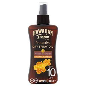 Hawaiian Tropic beschermende zonnebrandolie, spray, SPF 10, 200 ml, 1 st