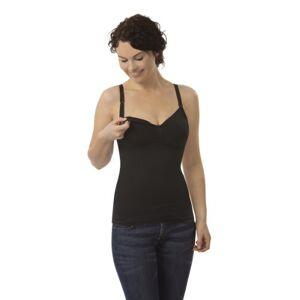 Carriwell naadloze Still-BH met overhemd, firgurvormende & verwarmende Still-Top, strijkvrije beha met brede bandjes, van ademende microvezel, in zwart & wit, maten: S - XL - l