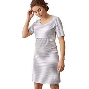 Boob dames nachthemd Still en omstandigheden nachtshirt Still nachthemd voor zwangere vrouwen en borstvoeding, van biologisch katoen (Night Dress) - wit/grijs Not Applicable, maat: m