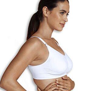 Carriwell gewatteerde voedingsbeha, naadloze borst- en zwangerschapsbeha, brede bandjes, afneembare schalen, in zwart en wit, maten: S - XL s