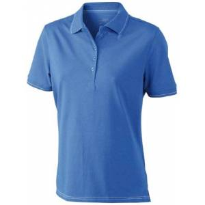 James & Nicholson Funktionspolo Elastic poloshirt voor dames, royal/white, maat XX-Large