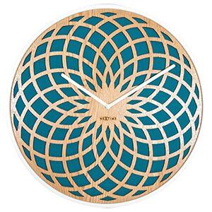 nextime 3149tq Wall Clock Sun Big, Hout, blauw, 50x 50x 7cm