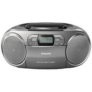 Philips azb600CD-radiorecorder met DAB + (Dynamic Bass Boost, FM-DAB +, CD, kasseten-Deck) Zilver