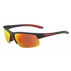 bollé zonnebril Breaker, matteack/RED/gepolariseerd Fire oleo, 12108