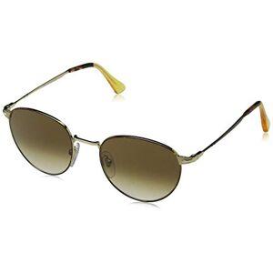 persol Metaal Ronde zonnebril in Havanna Goud po2445s 10755152 - 52