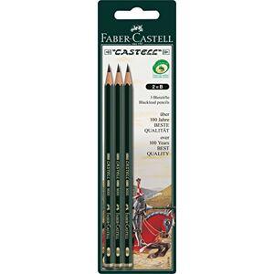 Faber-Castell 110798 - 3 potloden CASTELL 9000, schachtkleur: groen, groen
