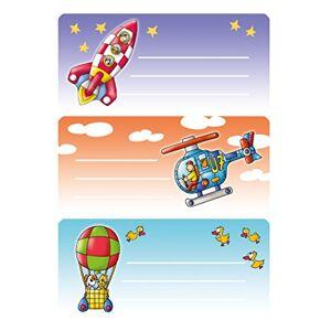 HERMA 4919naam-heftetiketten voor de school, Motief piloten, formaat 7,6x 3,5cm, inhoud Pro verpakking: 9etiketten