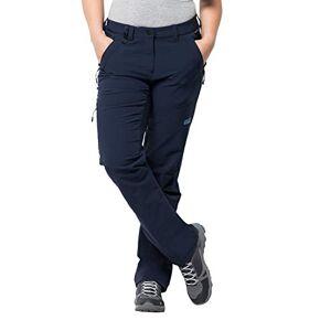 Jack Wolfskin Activate XT Dames veelzijdige softshellbroek, wind- en waterafstotende outdoorbroek, blauw