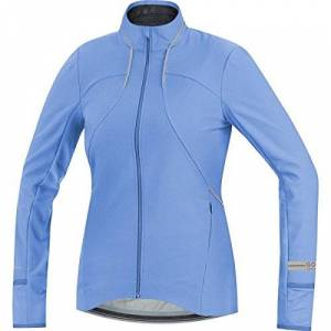 GORE WEAR Gore running wear SWLAIR Softshelljas voor dames, lange mouwen, Gore windstopper, blauw, 42