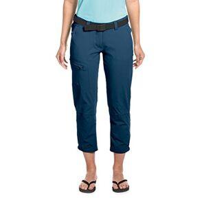 Maier Sports Lulaka Wandelbroek met 7/8-lengte, voor dames, 90% polyamide en 10% elastaan, in 9 maten, functionele outdoorbroek inclusief riem, bi-elastisch, sneldrogend en waterafstotend, blauw, 34
