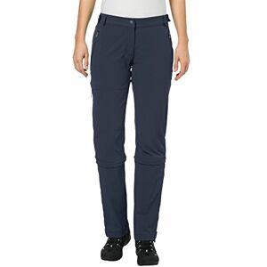 Vaude dames Farley Stretch Capri T-Zip Ii broek., blauw, 46