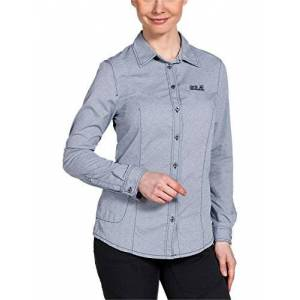 Jack Wolfskin Dames blouse rayleigh stretch vent shirt W, blauw, M