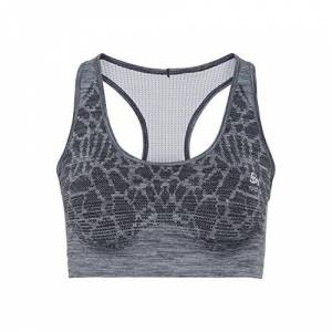 Odlo dames Blackcomb Seamless Medium Sports Bra loopkleding Sport-BH blauw - grijs XS