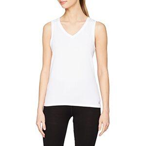 Odlo dames Suw Top V-hals Singlet Active F-Dry Light onderhemd, wit, m