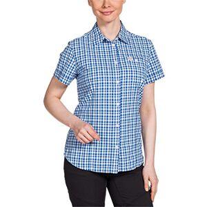 Jack Wolfskin Dames blouse flaming vent shirt, blauw, M