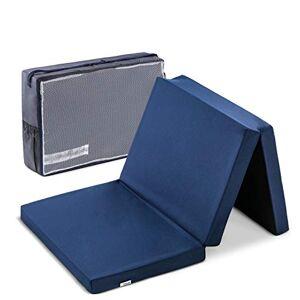 Hauck Sleeper Reisbed-/schuimstofmatras, 60 x 120 cm, 6 cm hoog, 3-delig inklapbaar, opvouwbaar, wasbaar, incl. transporttas Sleeper 60 x 120 cm marineblauw