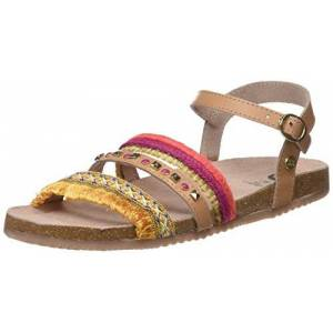 gioseppo meisjes 44659peeptoe sandalen - bruin (cuero), maat: 39