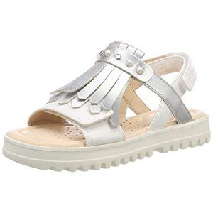 Geox J Coralie Girl E Peeptoe sandalen voor meisjes - wit - 38 EU