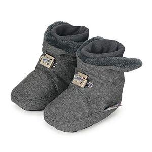 Sterntaler 5101832 Babylaarzen voor meisjes, met klittenbandsluiting, kleur gemêleerd magenta, maat 17/18, leeftijd 6-9 maanden - - grijs - 18 EU