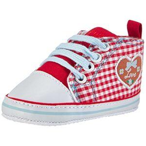 Playshoes slofjes voor baby's (meisjes) - rood (rot 8) maat 20