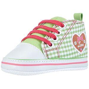 Playshoes slofjes voor baby's (meisjes) - groen (grün 29) maat 17