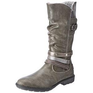 s.Oliver meisjes 56416 laarzen - grijs (grijs), maat: 38