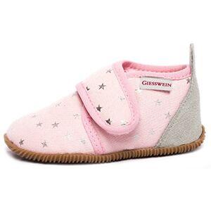 GIESSWEIN Gieswein Salsach – meisjespantoffels, schattige katoenen slipper, comfortabele pantoffels met glittersterren, klittenbandsluiting - roze - 22 EU