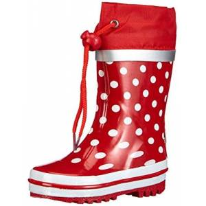 Playshoes Rubberlaarzen met stippen, voor meisjes - rood - 34/35 EU