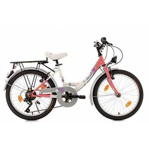 KS Cycling fiets kinderfiets dacapo Florida RH 34cm, wit/Roze, 20inch, 400d