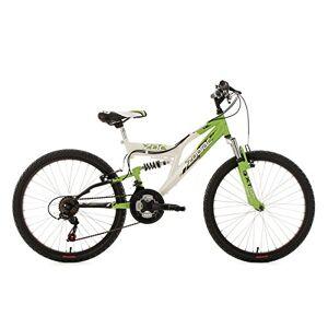 KS Cycling Fully Zodiac Mountainbike voor kinderen, wieldiameter 24 inch (50,8 cm), 602K, wit