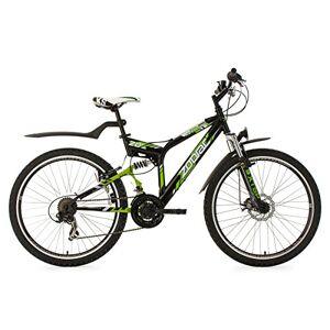 KS Cycling fiets Mountainbike atb Fully Zodiac RH 48cm, zwart/groen, 26, 328m