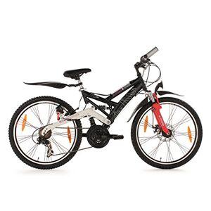KS Cycling ATB 4Masters Mountainbike voor kinderen, 24 inch, zwart, RH 42 cm