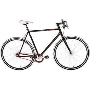 KS Cycling Fiets, fitnessfiets, Single Speed Essence, zwart, 28 RH 59 cm