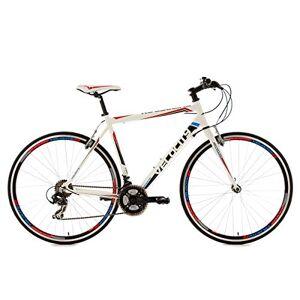KS Cycling fitnessbike aluminium frame 28 inch Velocity 21 versnellingen wit RH 53 cm