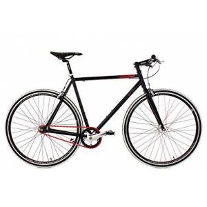 KS Cycling Fiets, fitnessfiets, Single Speed Essence, zwart