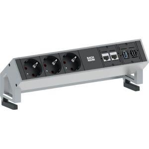 Bachmann 3x Schuko 2x CAT6 1x HDMI, 1x USB3.0 stekkerdoos