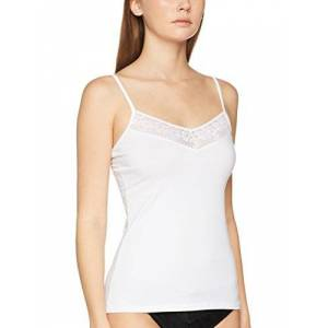 Skiny Dames Smart Cotton Spaghettishirt onderhemd (Smart Cotton Spaghettishirt) - wit (white 0500), maat: 38