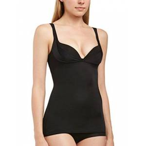 Cybele naturana Dames, formendes Top, shapewear camisole - zwart, maat: 44