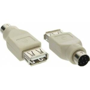InLine 33103 USB PS/2 adapter, USB-bus A naar PS/2 stekker