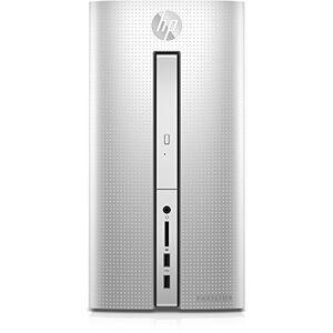 HP Pavilion (510-p159ng) Desktop PC (AMD Radeon R5-grafische kaart, supermulti-DVD-brander met Ultra-Slim-Tray, freedos 2.0) Zilver, zilver