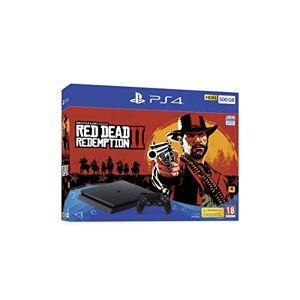 Playstation Sony Playstation 4 500GB Slim Blac Red Dead Redemption 2 Bundle, 711719763116 (Red Dead Redemption 2 Bundle)