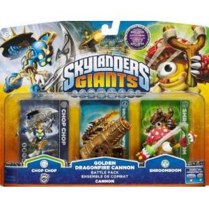 Skylander Giants Skylanders Giants Exclusive Golden Dragonfire Cannon Batlle Pack (Includes Chop Chop, Gold Cannon, Shroomboom) XBOX, PS3, Wii & 3DS