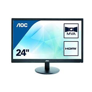 AOC gecontroleerde oorsprongsbenaming m2470swh AOC 59,9cm (23,6inch) mva-monitor (VGA, 2x HDMI, 1920x 1080, 60Hz, 1MS responstijd) Zwart