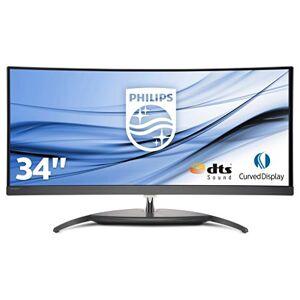 Philips bdm3490uc/0086cm (34inch) monitor (3x HDMI, DisplayPort, 4x USB 3.0, 3440X 1440, 60Hz, 5ms, Curved) Zwart