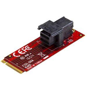 "StarTech.com U.2 (SFF-8643) auf M.2 PCI Express 3.0 x4 Adapterkarte fr 2,5"" U.2 NVMe SSD - M2 PCIe Adapter - U.2 Laufwerksadapter"