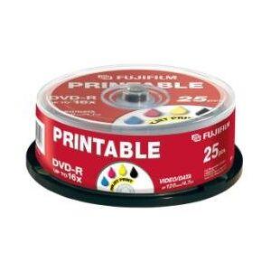 Fujifilm 25x DVD-R 4,7GB 120min Full PRINTABLE Ink White Cake Box